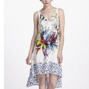 Anthropologie Maeve Silk floral High-low dress sz0